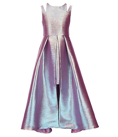 Tween Diva Big Girls 7-16 Double-Strap Two-Toned Iridescent Walk-Through Dress