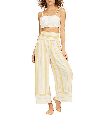 Billabong All Lined Up Striped Cropped Pants