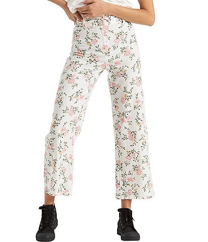 Billabong Back At It Floral-Printed Crop Pants