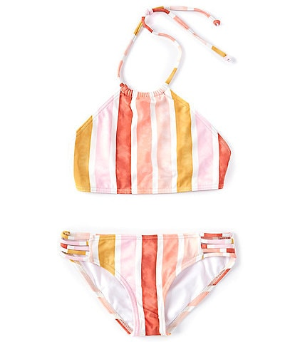 Billabong Big Girls 7-14 So Stoked Striped 2-Piece Swimsuit