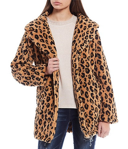Billabong Button-Front The Brighton Cheetah Print Jacket
