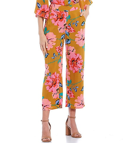 Billabong Coordinating Cut Through High Rise Floral Print Pants