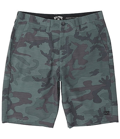 Billabong Crossfire Camouflage-Printed Slub Textured 21#double; Outseam Shorts