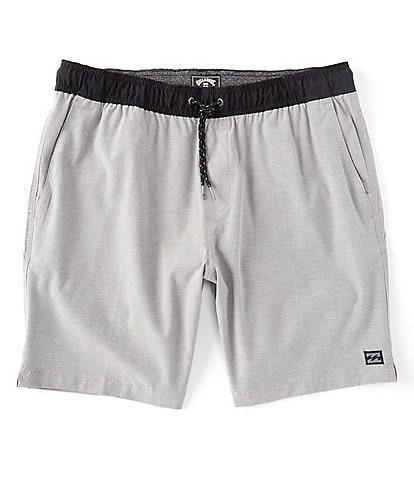 Billabong Crossfire Elastic-Waist 19#double; Outseam Walk Shorts
