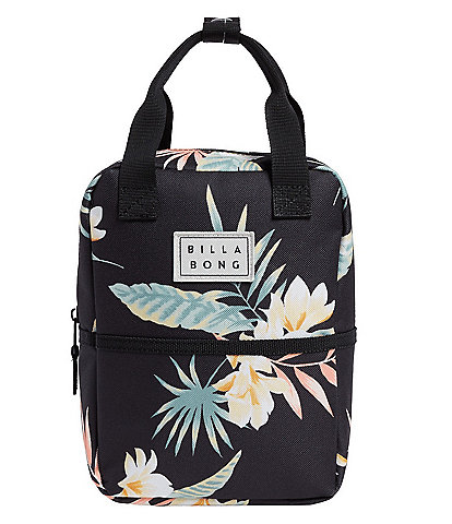 Billabong Don't Forget Tropical Palm Print Insulated Lunch Tote