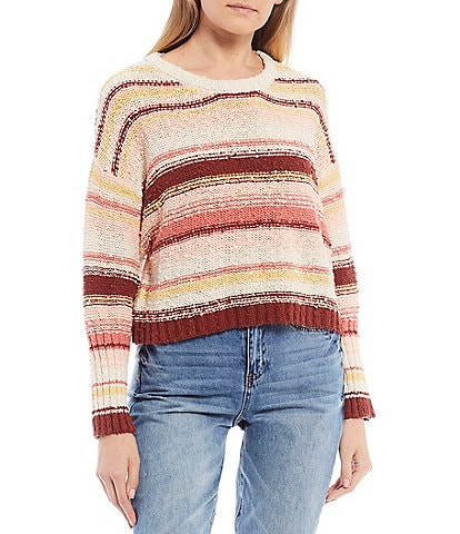 Billabong Easy Going Stripe Cropped Pullover Sweater