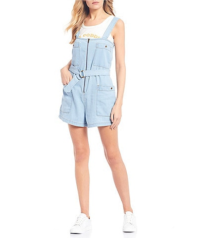 Billabong Light The Day Denim Romper