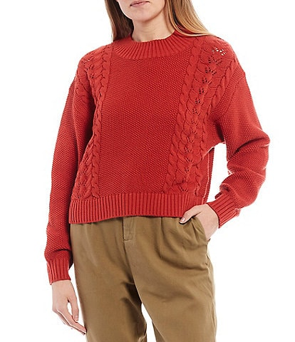 Billabong Long-Sleeve Great Escape Cropped Sweater