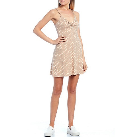 Billabong Love Me Knot Dot Print Knit Dress