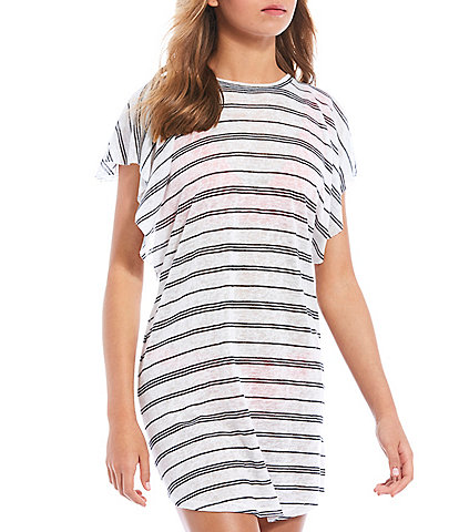 Billabong Out For Waves Flutter Sleeve Cover Up Dress