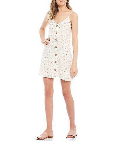 Billabong Sweet For Ya Stripe Button-Front Dress
