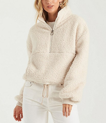 Billabong Time Off Long-Sleeve Partial-Zip Cozy Sweatshirt