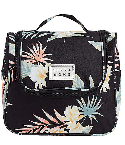 Billabong Travel Beauty Tropical-Foliage-Printed Toiletry Bag