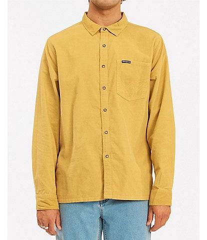 Billabong Wrangler Collaboration Bowie Cord Long-Sleeve Woven Shirt
