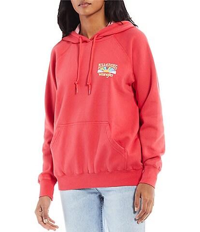 Billabong x Wrangler Keep It Classic Pigment Dyed Fleece Hoodie