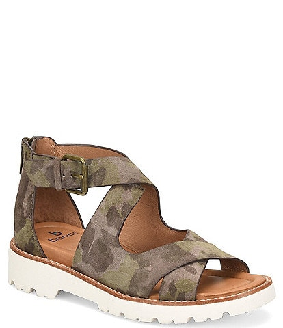 bionica Women's Denali 2 Collection Dania Camo Print Block Heel Sandals