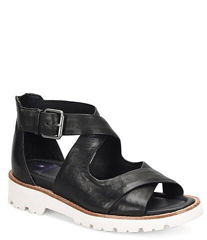 bionica Women's Denali 2 Collection Dania Leather Block Heel Sandals