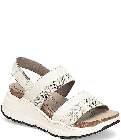 Bionica Women's Obsidian Collection Odelia Snake Print Banded Wedge Sandals