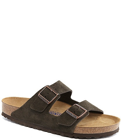 2c221c805 Birkenstock Arizona Men's Suede Double Banded Slip On Sandals