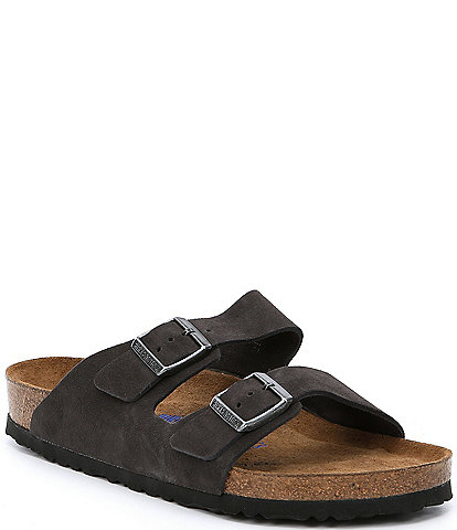 Birkenstock Arizona Men's Suede Double Banded Slip On Sandals