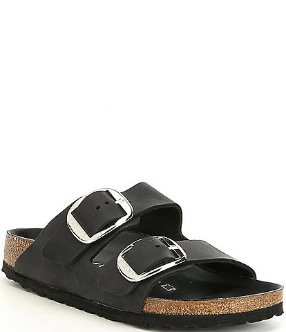 Birkenstock Women's Arizona Oiled Leather Big Buckle Slide Sandals