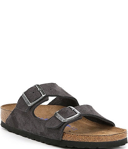Birkenstock Women's Arizona Suede Dual Adjustable Buckle Strap Sandals