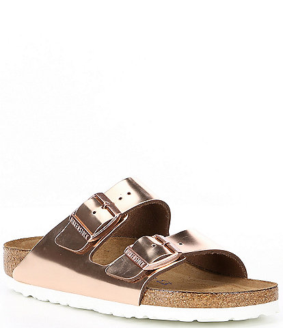 Birkenstock Women's Arizona Metallic Leather Sandals