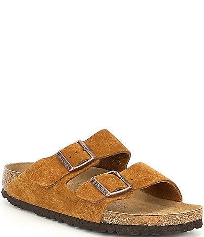 Birkenstock Women's Arizona Suede Dual Adjustable Buckle Strap Sandals