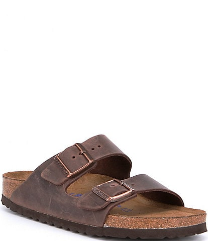 Birkenstock Women's Arizona Oiled Leather Soft Footbed Sandals