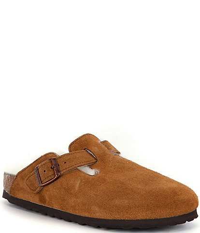 Birkenstock Women's Boston Suede Shearling-Lined Clogs