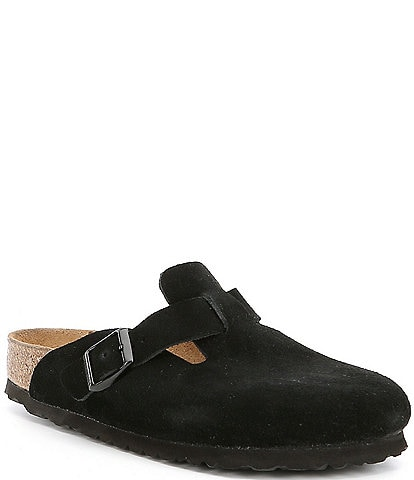 Birkenstock Women's Boston Suede Soft Footbed Clogs