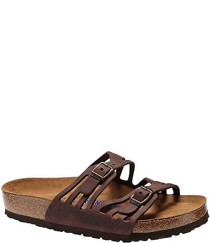 Birkenstock Granada Softbed Leather Sandals
