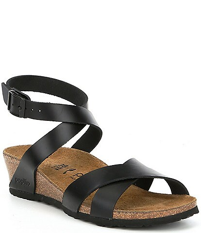 Papillio by Birkenstock Lola Ankle Wrap Strap Wedge Sandals
