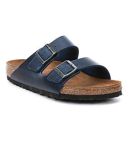 Birkenstock Men's Arizona Leather Soft Footbed Slip On