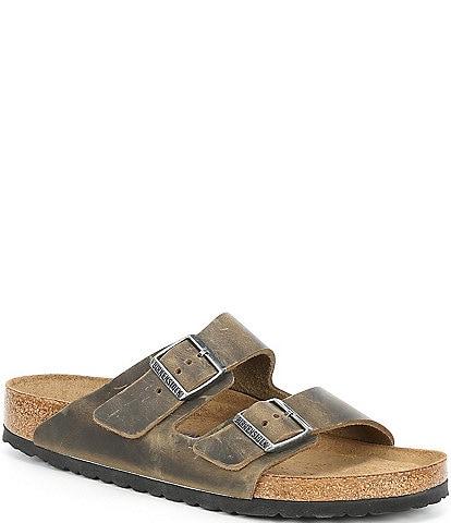 Birkenstock Men's Arizona Soft Footbed Leather Sandals