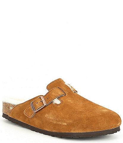 Birkenstock Men's Boston Suede Shearling