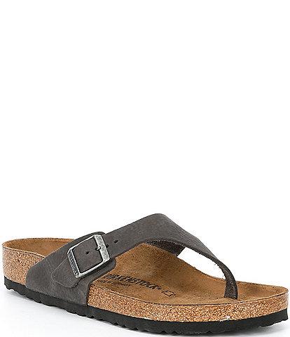 Birkenstock Men's Como Leather Thong Sandals