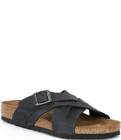 Birkenstock Men's Lugano Nubuck Leather Sandals