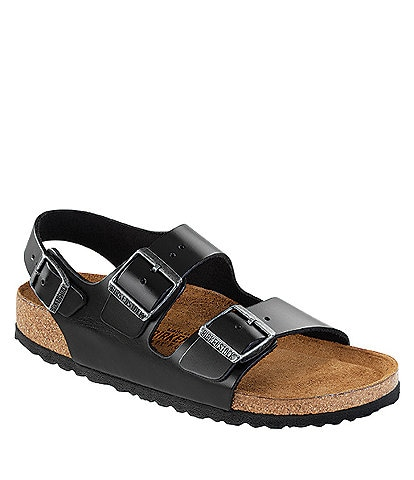 181de9f0888 Birkenstock Men s Milano Leather Double Banded Slingback Sandals