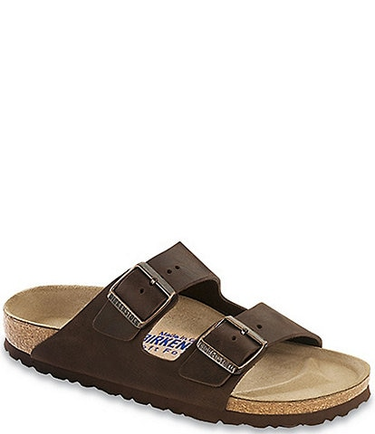 b194c4201ad5da Birkenstock Arizona Men s Oiled Leather Soft Footbed Slip On Sandals