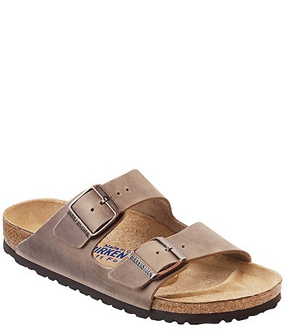 Birkenstock Arizona Men's Oiled Leather Soft Footbed Slip On Sandals