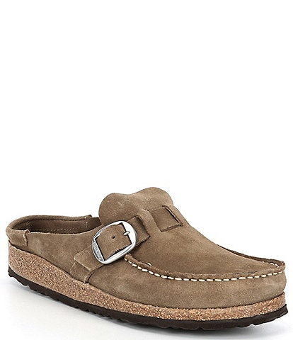 Birkenstock Women's Buckley Suede Buckle Detail Clogs