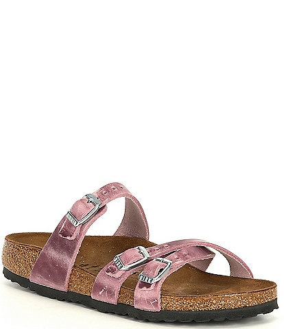 Birkenstock Women's Franca Distressed Oiled Leather Sandals