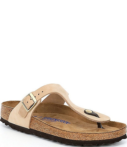Birkenstock Women's Gizeh Nubuck Suede Soft Footbed Thong Sandals