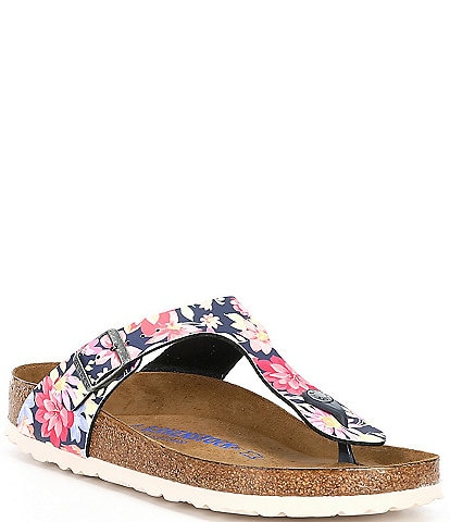 Birkenstock Women's Gizeh Soft Footbed Floral Thong Sandals
