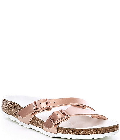 Birkenstock Women's Yao Hex Metallic Slide Sandals