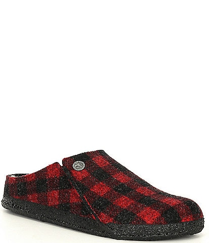 Birkenstock Women's Zermatt Plaid Shearling-Lined Slippers