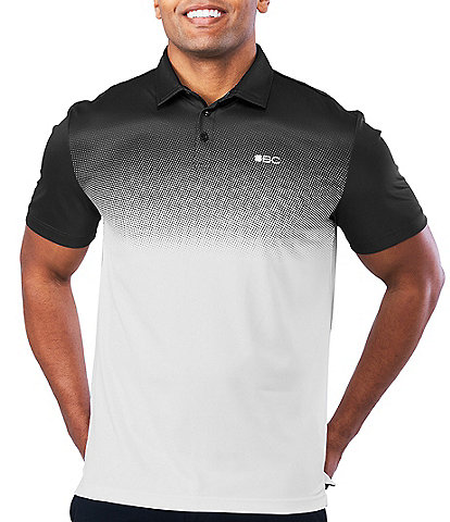 Black Clover Short-Sleeve Fade Golf Polo