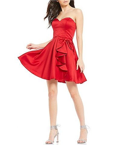 Blondie Nites Strapless Bow Side Fit & Flare Dress
