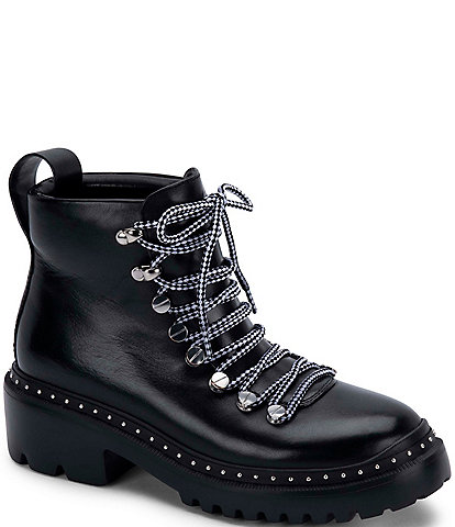 Blondo Chrissy Waterproof Leather Lace-Up Combat Boots